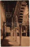 Seville, Sevilla; Galeria del Patio de las Doncellas / Gallery of the Patio of the Maidens, interior