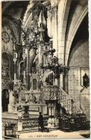 San Sebastian, Residencia de la Compania de Jesus, Detalle del Altar Mayor / church interior, altar