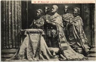 San Lorenzo de El Escorial, El Escorial; Felipe II, sus Mujeres e Hijo / Philip II of Spain with his family