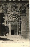 Toledo, Portada del Hospital de Santa Cruz / hopsital entrance