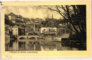 Luxembourg, L'Alzette au Grund