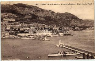 Monte Carlo, entry to the port