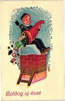 New Year, chimney sweeper s: Gyulai, Újév, kéményseprő s: Gyulai