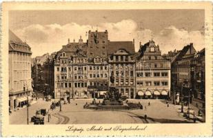 Leipzig, Markt, Siegesdenkmal / market square, monument