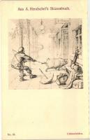 Aus A. Hendschel's Skizzenbuch No. 57. 'Unbescheiden' pinx. A. Hendschel