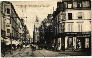 Rouen, Rue Guillaume le Conquerant, Palais de Justice / street, palace of justice