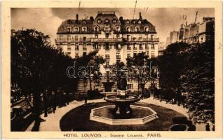 Paris, Hotel and square Louvois