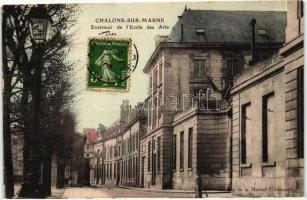 Chalons-sur-Marne, Exterieur de l'Ecole des Arts / school of arts