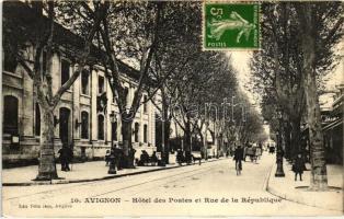 Avignon, Hotel des Postes, Rue de la Republique / hotel, street,