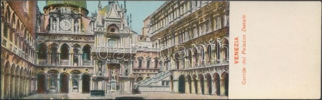 Venice, Venezia; Cortile del Palazzo Ducale / palace courtyard, minicard (13,8 cm x 4,2 cm)