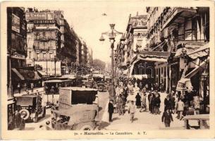 Marseille, La Cannebiere / street, automobiles