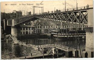 Brest, Le Pont National / bridge, steamship