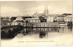 Bayonne, Pont sur l'Adour, Porte de France, Reduit / bridge, port