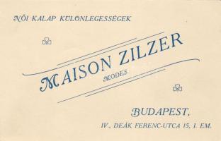 Maison Zilzer női kalapkülönlegességek Budapesten, a Deák Ferenc téren (nem képeslap), Maison Zilzer special woman hats in Budapest, Ferenc Deák square (non pc)