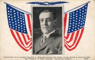 Woodrow Wilson, American flag