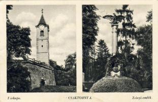 Csáktornya, Várkapu, Zrínyi emlék Cakovec, castle gate, monument