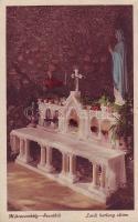 Mátraverebély-Szentkút, Lurdi barlang, oltár, belső