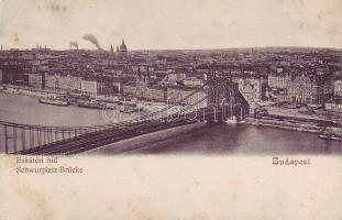 Budapest, Erzsébet híd (Eskü téri híd) gőzhajó