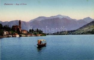 Tremezzo, Lago di Como / view of the town with rowboat
