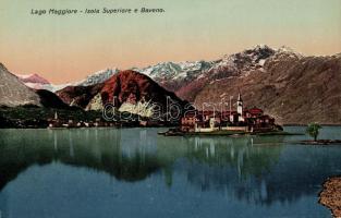 Lago Maggiore, Isola Superiore e Baveno / view of the town with the Isola dei Pescatori