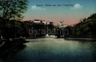 Znojmo, Znaim; Partie aus dem Thayatale / view from the Thaya river valley