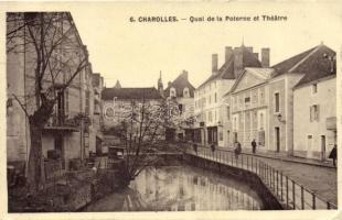 Charolles, Quai de la Promenade et Theatre / quay, theatre promenade