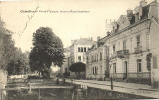 Charolles, Caisse d'Epargne, Postes et Ecole Superieure / savings bank, post office, school