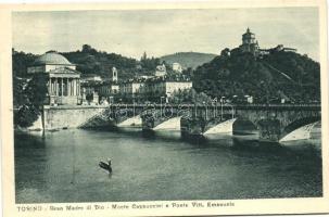 Torino, Gran Madre di Dio, Monte Cappuccini e Ponte Vitt. Emanuele
