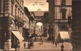 Firenze, Florence; La Via Strozzi, Hotel Helvetia, Pasticceria
