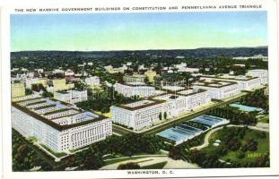 Washington D.C., The new massive government buildings on constitution and Pennsylvania avenue triangle