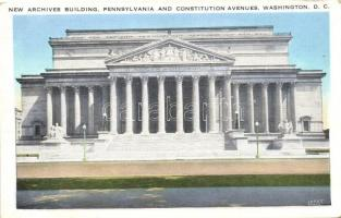 Washington D.C., New Archives Building, Pennsylvania and Constitution avenues