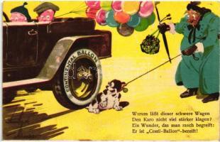 Continental Ballon, Caoutchouc und Gutta Percha Compagnie / rubber company advertisement from Hannover