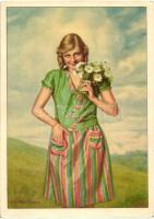 Indanthren textil festés, reklámlap s: H. Schieberth Textile paint advertisement, Klösz s: H. Schieberth