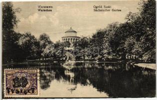 Warsawa, Warschau; Ogród Saski / garden, TCV card