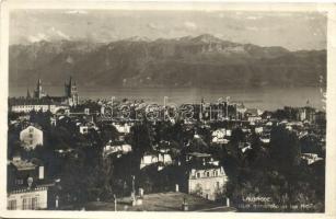 Lausanne, Vue generale et les Alps