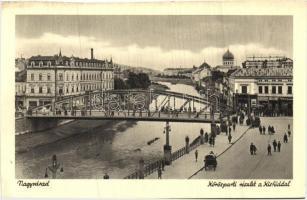 Oradea, river bank, bridge, synagogue, Nagyvárad, Köröspart, Kishíd, zsinagóga