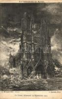 Reims, Le Crime Allemand 19 Septembre 1914 / Cathedral ruins after the war s: Charlier