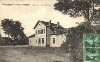Martigny-les-Bains, Vosges; La gare due extérieure / railway station, TCV