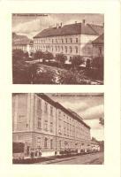 Eger, az Angolkisasszonyok Intézete, az épület Káptalan utcai és dr. Szmrecsányi Lajos utcai homlokzatai