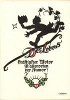 Des Lebens / Greeting card, solhouette, Pilschke Kunstkarte s: Georg Plischke, Üdvözlőlap, sziluett, Pilschke Kunstkarte s: Georg Plischke