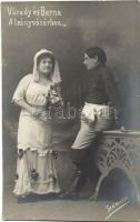 """Várady Margit és Barna Andor """"A leányvásár""""-ban; Szamossy Ferencz fényképészeti műterme"""