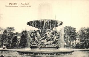 Dresden, Albertplatz, Monumentalbrunnen Stürmische Wogen / square, fountain