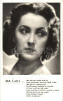 Lukács Margit dala a Fekete Hajnal című Hausz Mária filmben, Fotó Várkonyi Stúdió