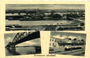 Komárno, bridge, railway station, Komárom, híd, vasútállomás