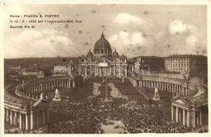 Rome, Roma; Piazza S. Pietro, Santita Pio XI