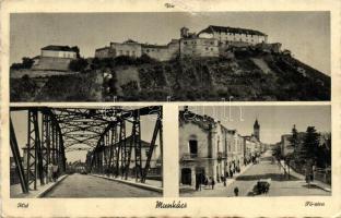 Mukacheve, bridge, main street, castle, Munkács, híd, Fő utca, vár