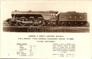 "London & North Eastern Railway, 4-6-2 Pacific Type Express Passenger Engine No. 4472. ""Flying Scotsman"", train"