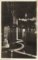 Budapest I. Halászbástya és Mátyás templom, éjjel