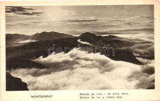 Montserrat, Efectes de llum i de boira baixa