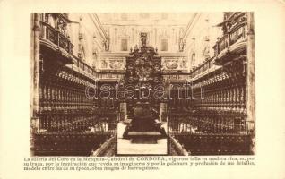 Cordoba, La silleria del Coro en la Mezquita Catedral
